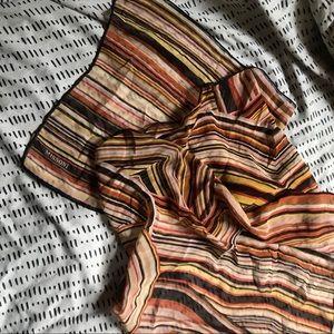 Beautiful Missoni oblong silk scarf in warm tones